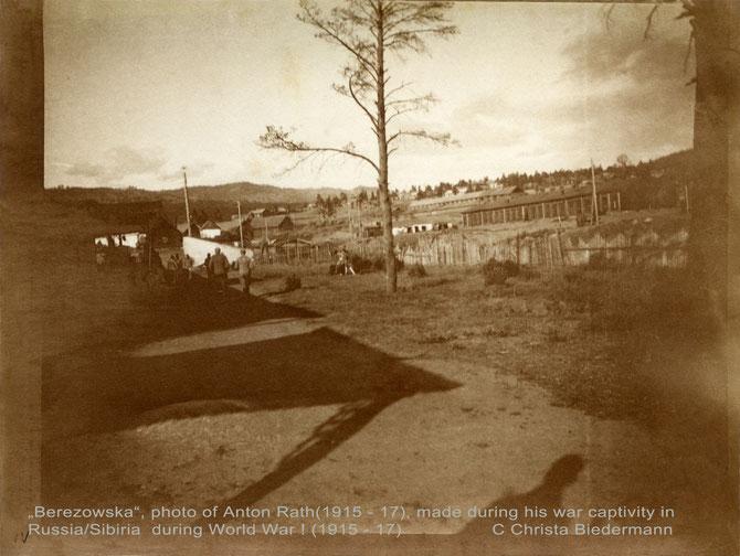 """""""Berezowska""""(Fotografie rückwärts beschriftet) von Anton Rath während seiner Kriegsgefangenschaft in Sibirien 1915 - 17."""