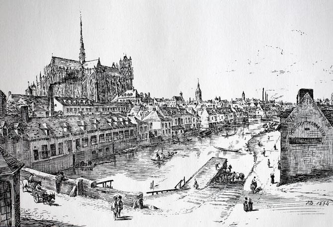Vue du Port d'Amont. Oeuvre de Duthoit.