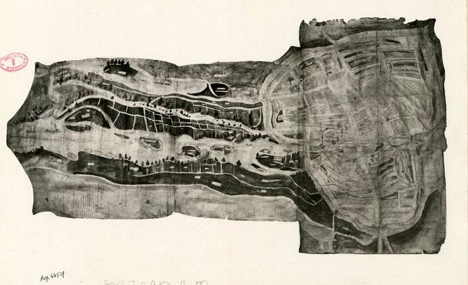 Amiens et les hortillonnages en 1542 (Source: BNF / Gallica