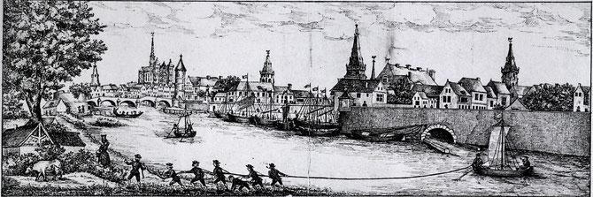 Vue d'Amiens (Source: Archives dépârtementales de la Somme)