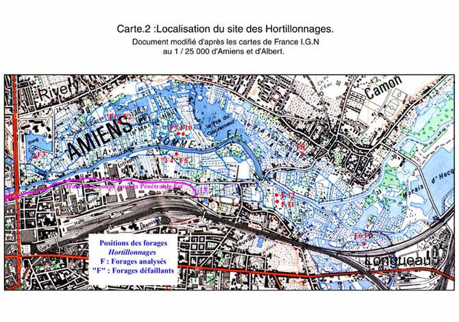Carte publiée par L. Huriez (2000)