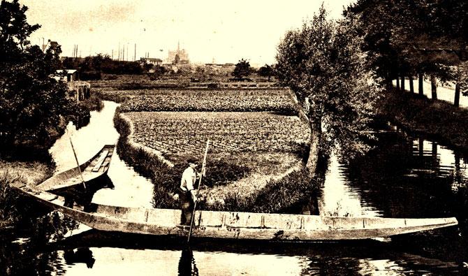 Aires de la Neuville, vue prise du pont de l'Agrappin (Collection personnelle B. Bréart)