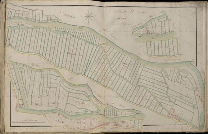 Section du cadastre napoléonien, la Voyerie (reproduite grâce à l'aimable autorisation des services des archives départementales de la Somme)