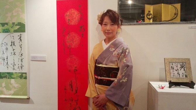 2015,3 森岡静江ミラノ個展にて
