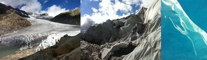 Der Rhonegletscher am Furkapass