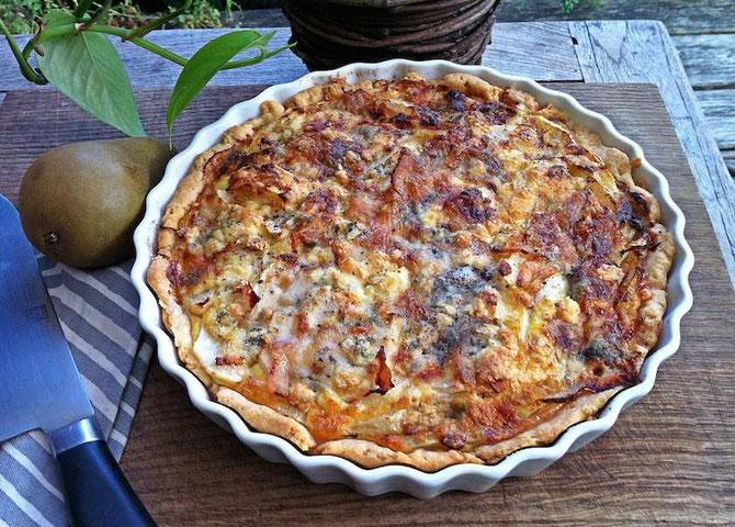 Bild: Quiche mit Fenchel, Birne, Roquefort und karamellisierten Walnüssen, by  develloppa