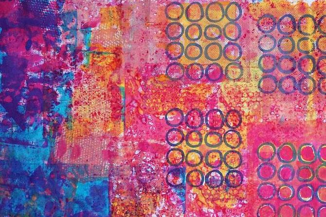 mit Procion MX-Farben bedruckter Stoff (von develloppa)