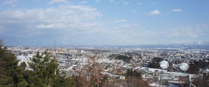 103年前、レルヒ少佐も見たこの景色。今年の冬はいまのところ少雪のようです