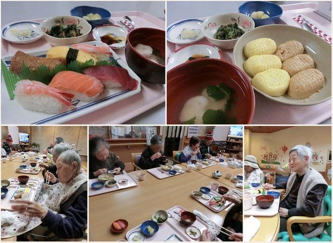 「生寿司」に「ソフト寿司」。皆さんの笑顔が私たちの励み。これからも工夫を凝らした食事を提供していきます!