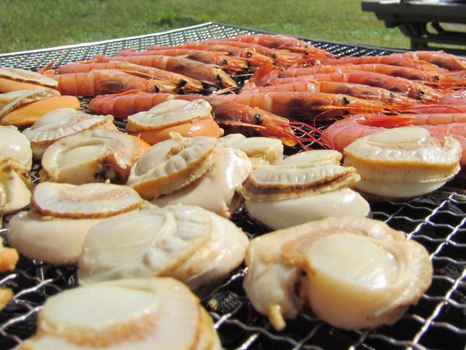 今年は「海鮮バーベキュー」。自然の恵みに「ありがとう。」とっても美味しかったです