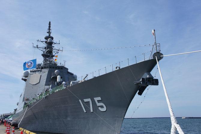 13年ぶりに直江津港に寄港したイージス艦「みょうこう」。いつも海上から私たちを見守ってくださりありがとうございます