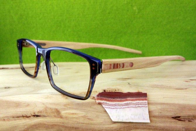 Wacholder-Brille mit Intarsie