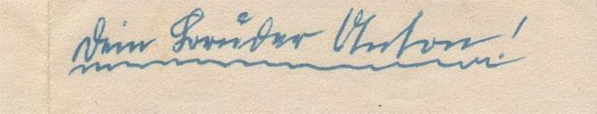 Die letzte Unterschrift