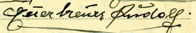 Seine letzten Grußworte im Abschiedsbrief vom 10.1.1940