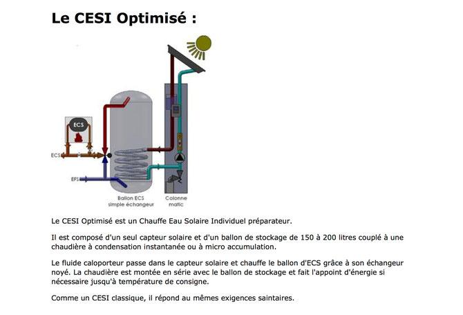 Colonne Solaire - ECS - Eau Chaude Sanitaire -  CESI - Chauffe Eau Solaire Individuel - CESI Optimisé  Chauffe Eau solaire Individuel Préparateur - Chaudière à condensation - Colonne Matic