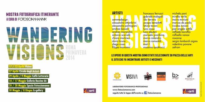 invito mostra wandering visions - primavera 2014 Roma