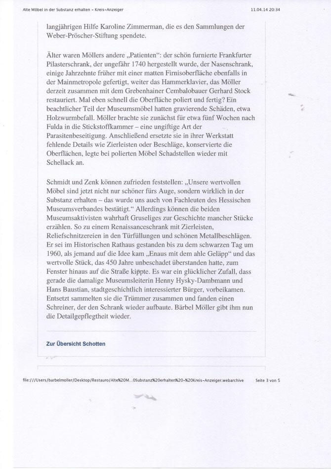 Kreis-Anzeiger Schotten April 2014
