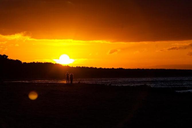 Sonnenuntergang am Strand von Glowe auf Rügen