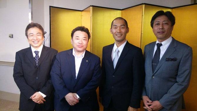 NPO親心支援協会の副理事長として、福島県いわき市の清水敏男市長と懇談