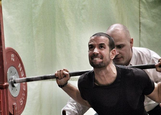 Claudio in Aktion im Powerlifting