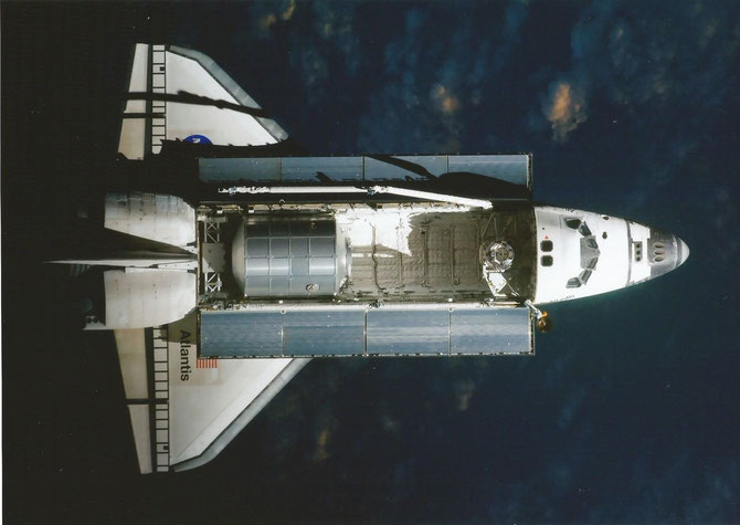 Space Shuttle flight STS-135 (Atlantis) last flight before docking to ISS