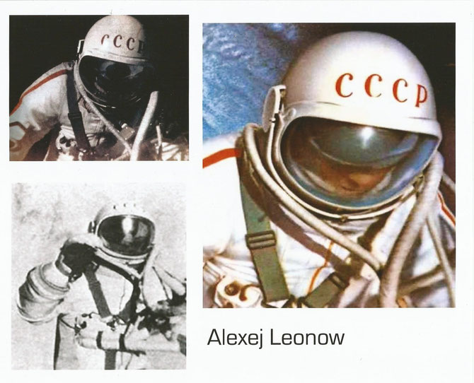Woshod 2, Alexej Leonow during first EVA in history