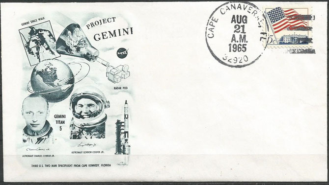 Gemini 5 launch  cover dated 21.08.1965