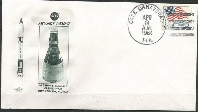 Gemini 1 launch cover dated 08.04.1964