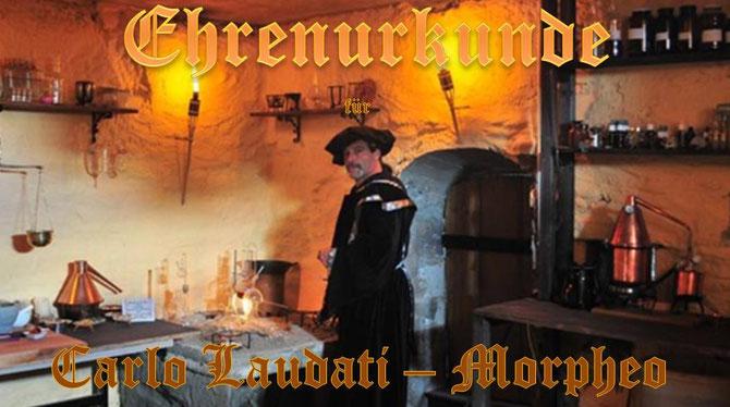 Alchemist Morpheo in seinem einzigartiben Mittelalterlabor