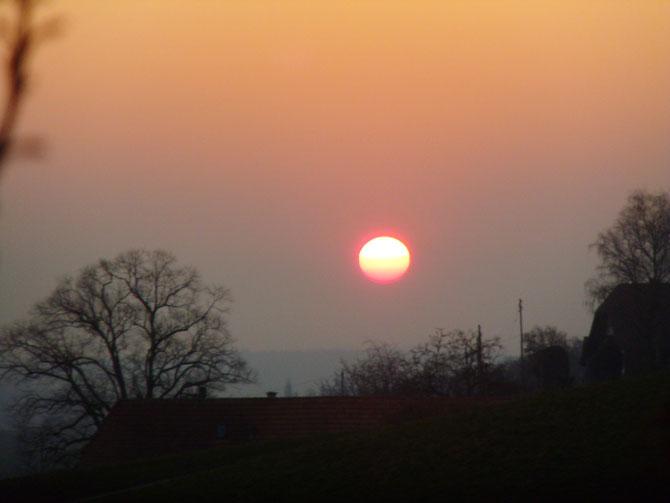 Wir wohnen punkto Sonnenuntergänge am schönsten Ort der Welt!