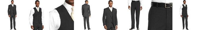 Sean John Suit, Black Pinstripe Vested Special Savings  Reg. Sale EUR 178.50