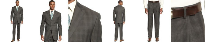 Sean John Suit Separates, Brown Plaid Special Savings  Reg. EUR - 126.83