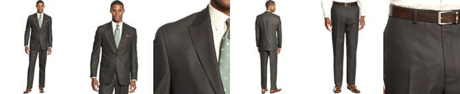 Sean John Suit, Dark Brown Neat Special Savings  Reg.EUR 187.89 Sale