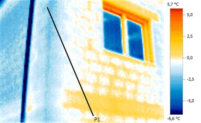 Beispiel einer Wärmebildaufnahme eines bestehenden Gebäudes, Quelle: Reiter GmbH, gebäudedoktor.at