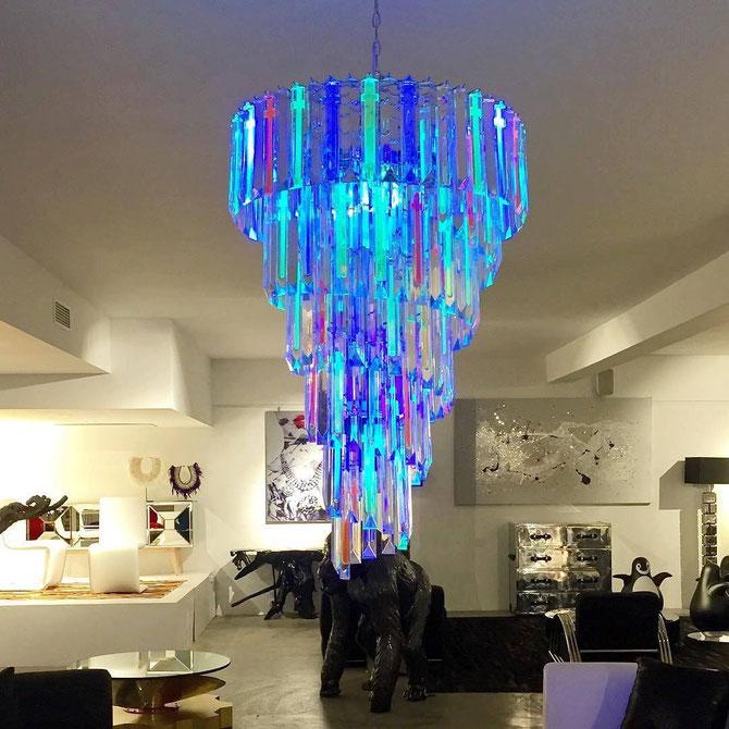 Blacklight chandeliers - Fluogram / uv-fluo