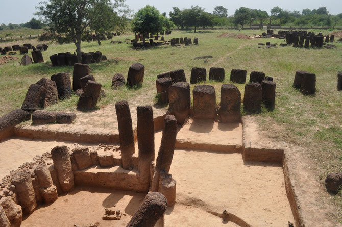 Vue de la nécropole de Wanar depuis le nord