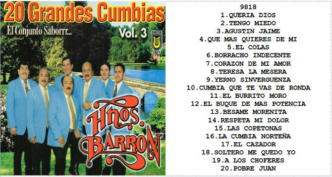 image Los Hermanos Barron   20 Grandes Exitos Vol3
