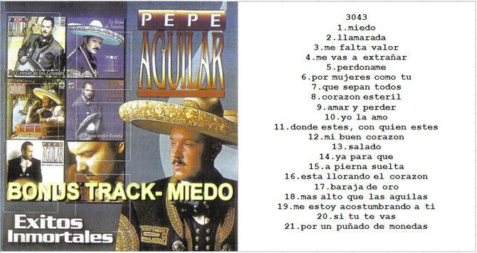 image Pepe Aguilar   Exitos Inmortales, Version Tepito [FD]
