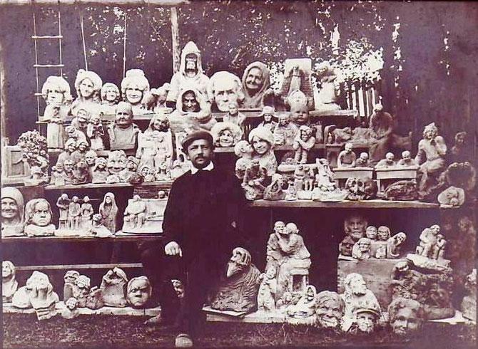 (19) Инн. Жуков и его летние работы (Деревня Ново-Северская под СПБ?) (1909г.)