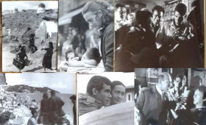 La piel quemada. fotografías de la película. 1967