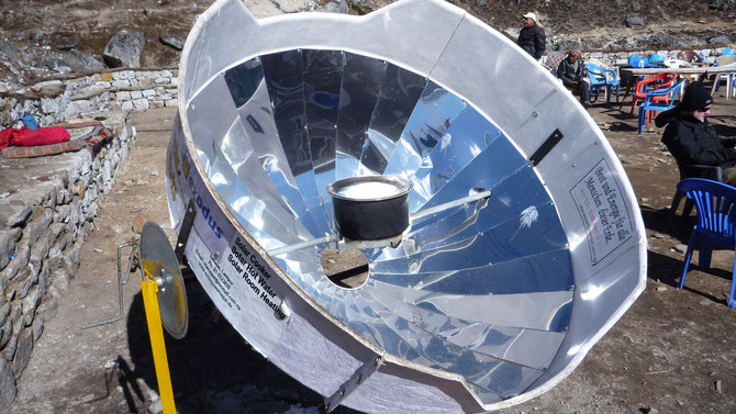 Solar parabolic oven in the Himalayas, Nepal, 2010