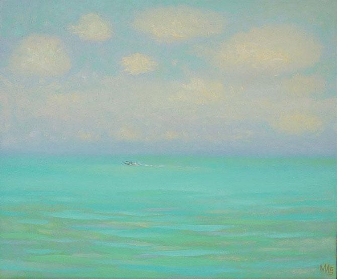 По морю с облаками, 2015, холст, масло, 50 x 60см
