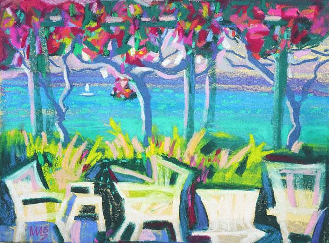вишня, пастель,ландыши,Art, букет, оригинальный, подарок, картинны, купить картину, современное искусство, пуантелизм, Циркина, Богачева, Tsirkina, Bogacheva