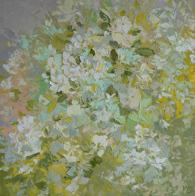 яблони цветут,яблоневый цвет,живопись маслом,Maria Bogacheva ,Tscirkina,современная, живопись, импрессионизм, подарок, достойный, лучший,эксклюзивный, пейзаж, современный, декор, для интерьера, живопись, импрессионизм, морской пейзаж