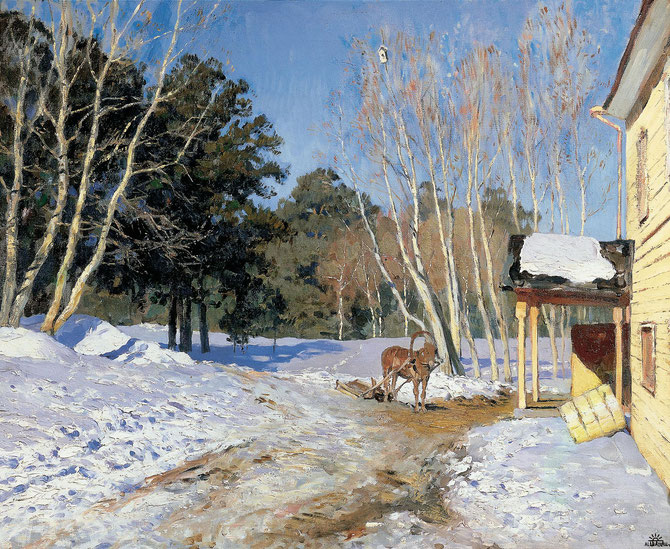 """March"", Isaak Levitan [1860 - 1900]. Quelle Wikimedia.org"