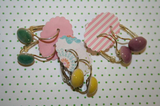 Ohringe in verschiedenen Farben erhältlich Paar 14 € (Nickelfrei)