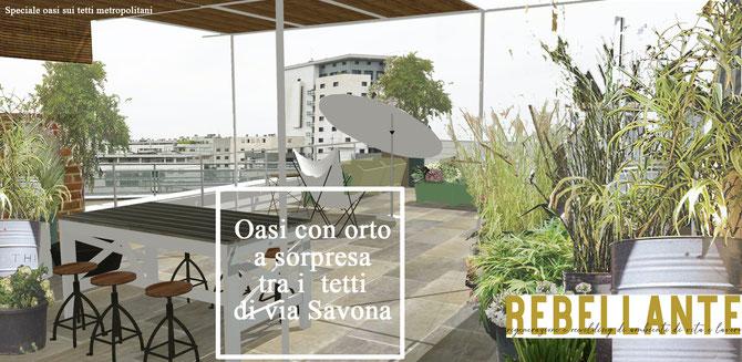 progetto di allestimento di ampi terrazzi : un loft con orto ...