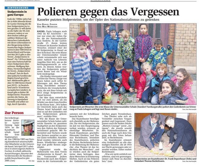 Bericht in der Lokalzeitung HNA
