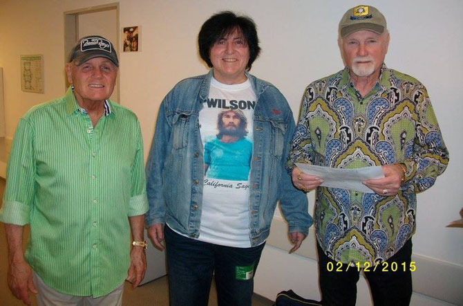 "2 original Beach Boys - Bruce Johnston, me & Mike Love in Frankfurt/Germany at ""Night of the Proms""."