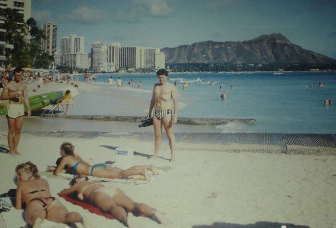 Beach Boy Carl in Honolulu-Waikiki, Oahu, Hawaii - April 1987